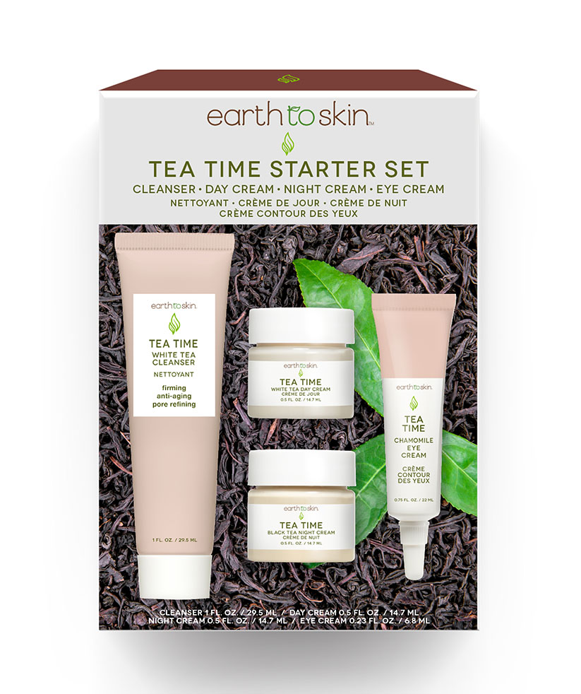 Earth to Skin Tea Time Anti-Aging Starter Set