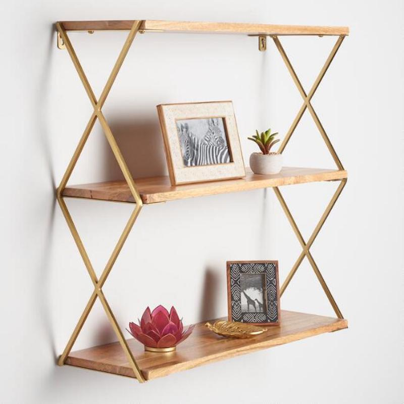 Easy Home Upgrades, wooden open shelving