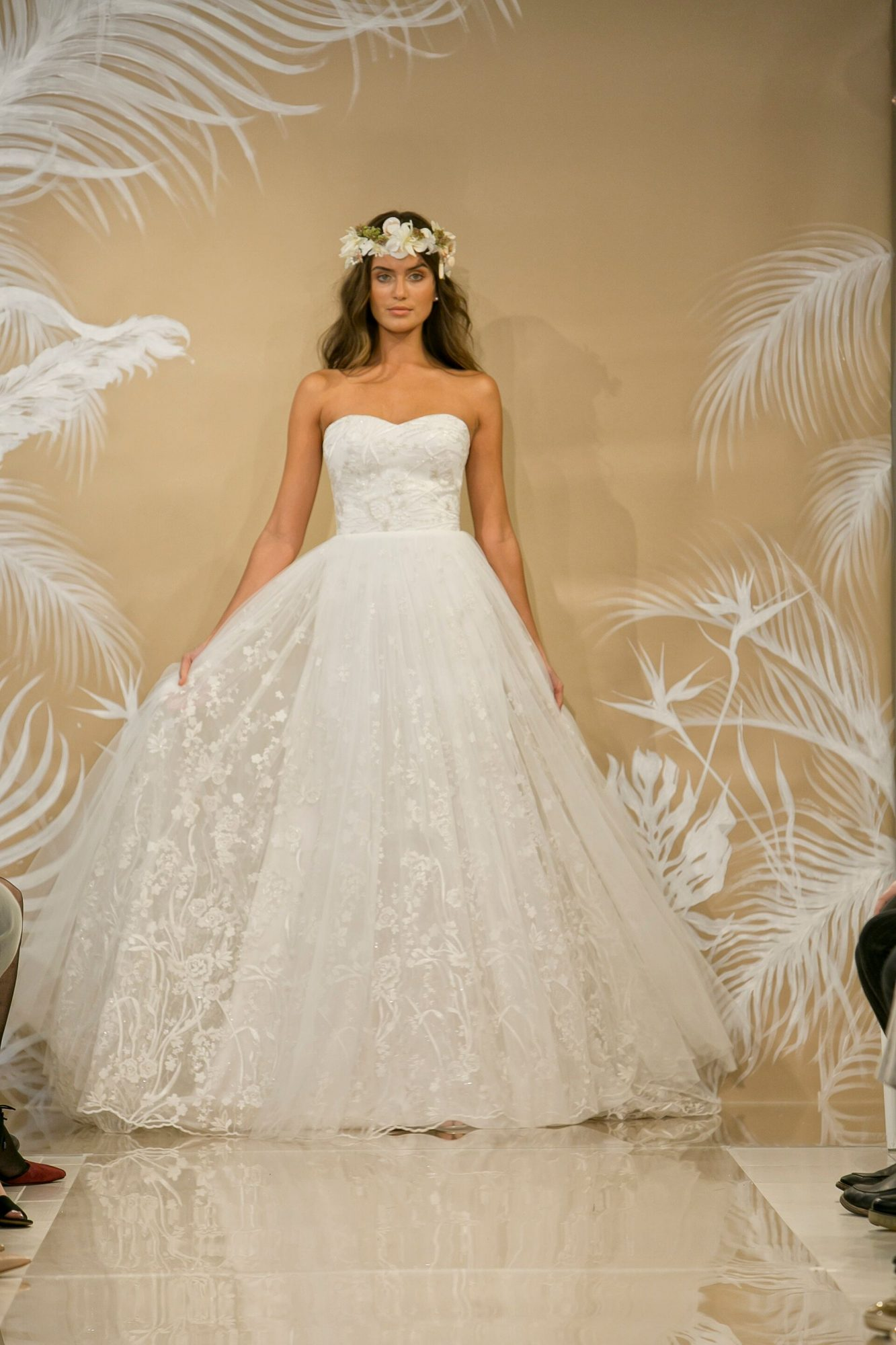 Embroidery Wedding Gown by Theia