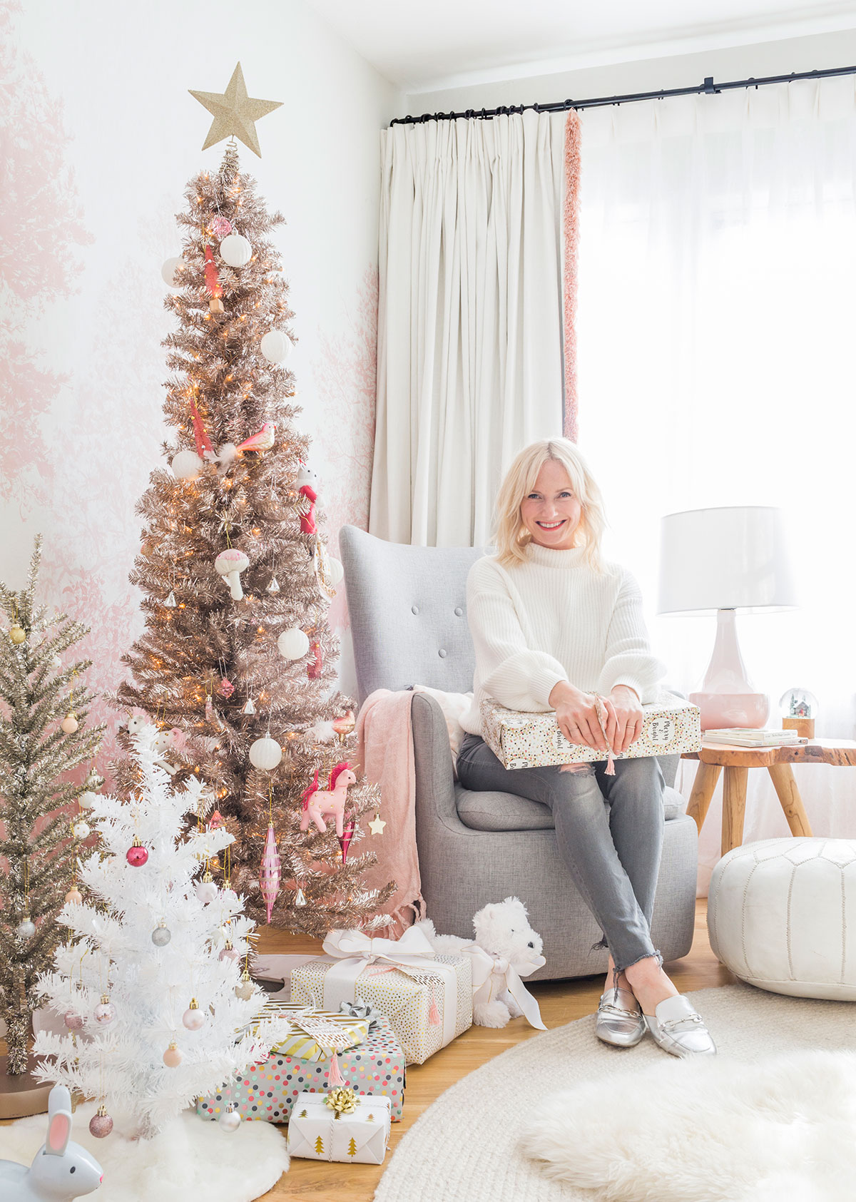 Emily Henderson Pink Christmas