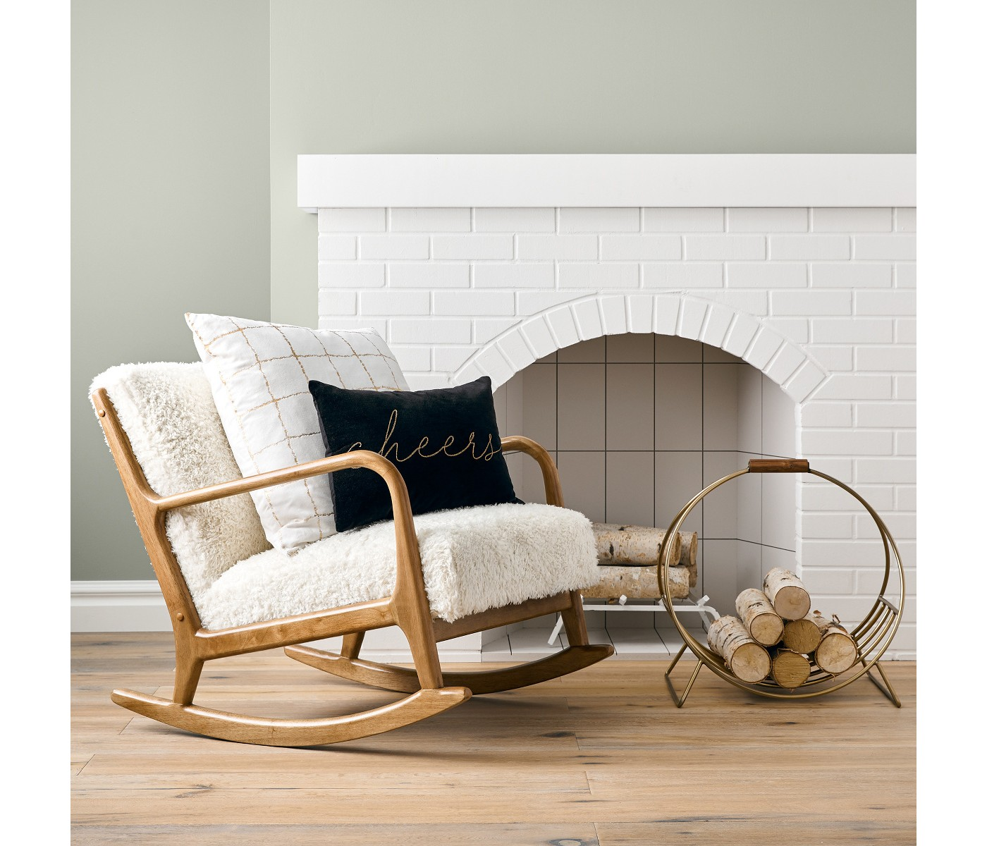 Emily Henderson Target Sherpa Rocking Chair