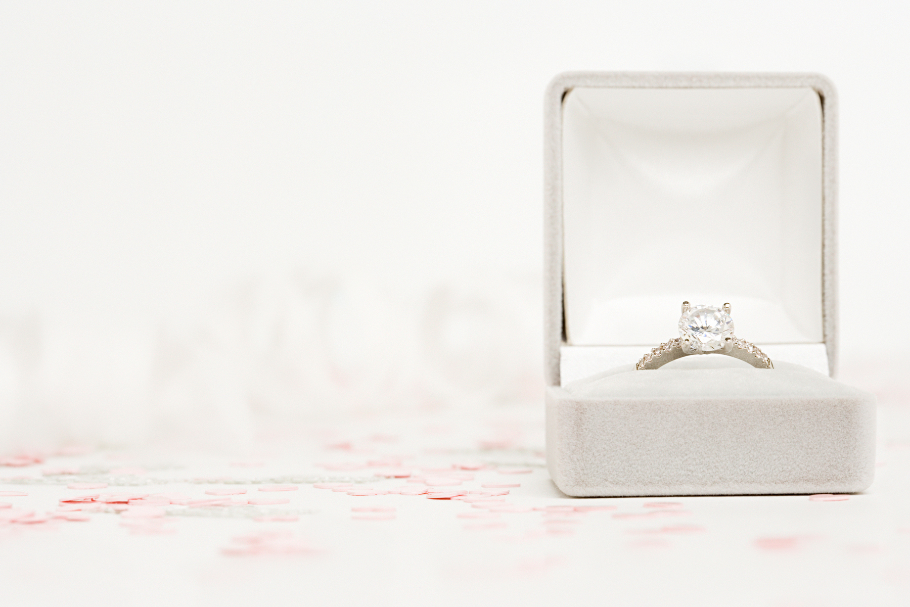 Engagement ring trends 2018 ring in box