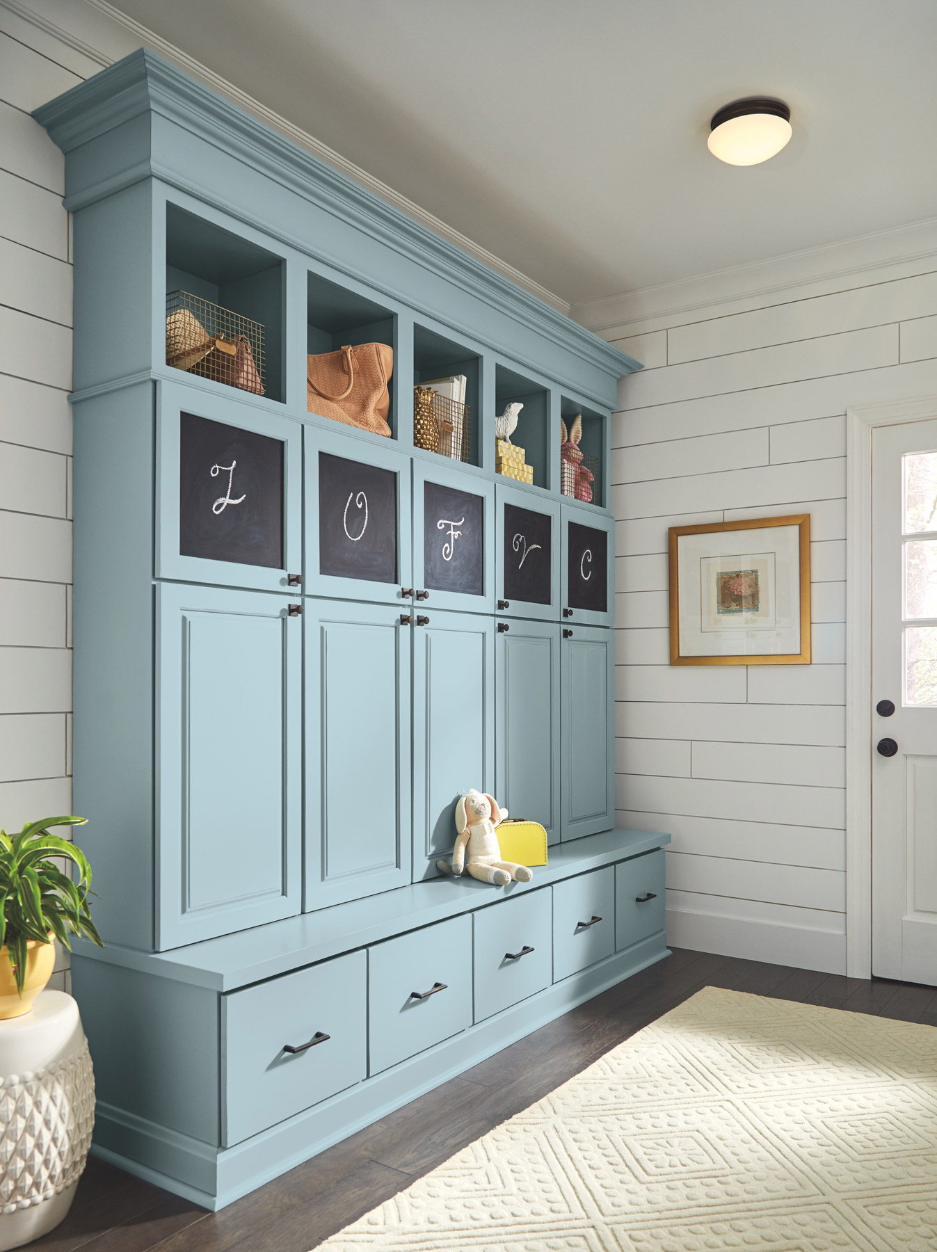 Entryway ideas - Try built-ins (mimicked or otherwise)
