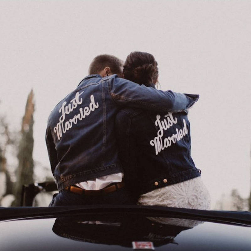 Matching Just Married Couples Jackets