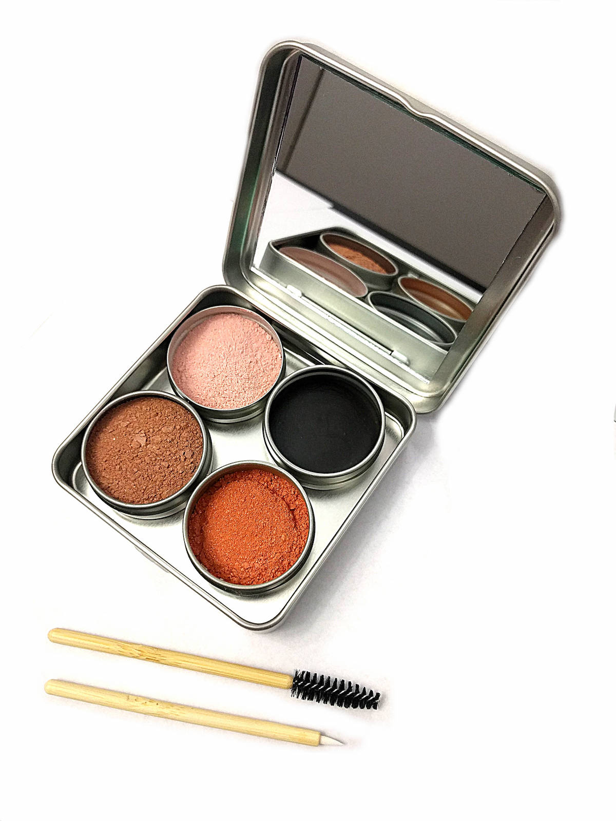 Customized powder zero waste makeup set