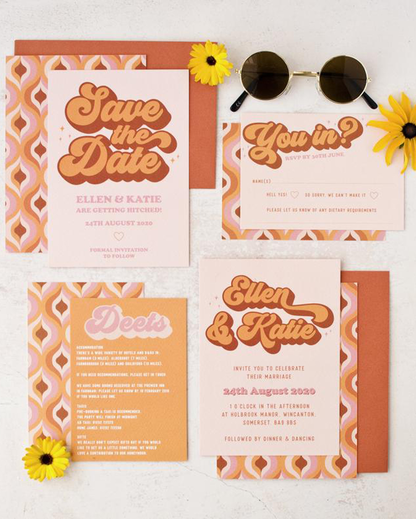 Etsy 2020 Wedding Trends: 70s Decor