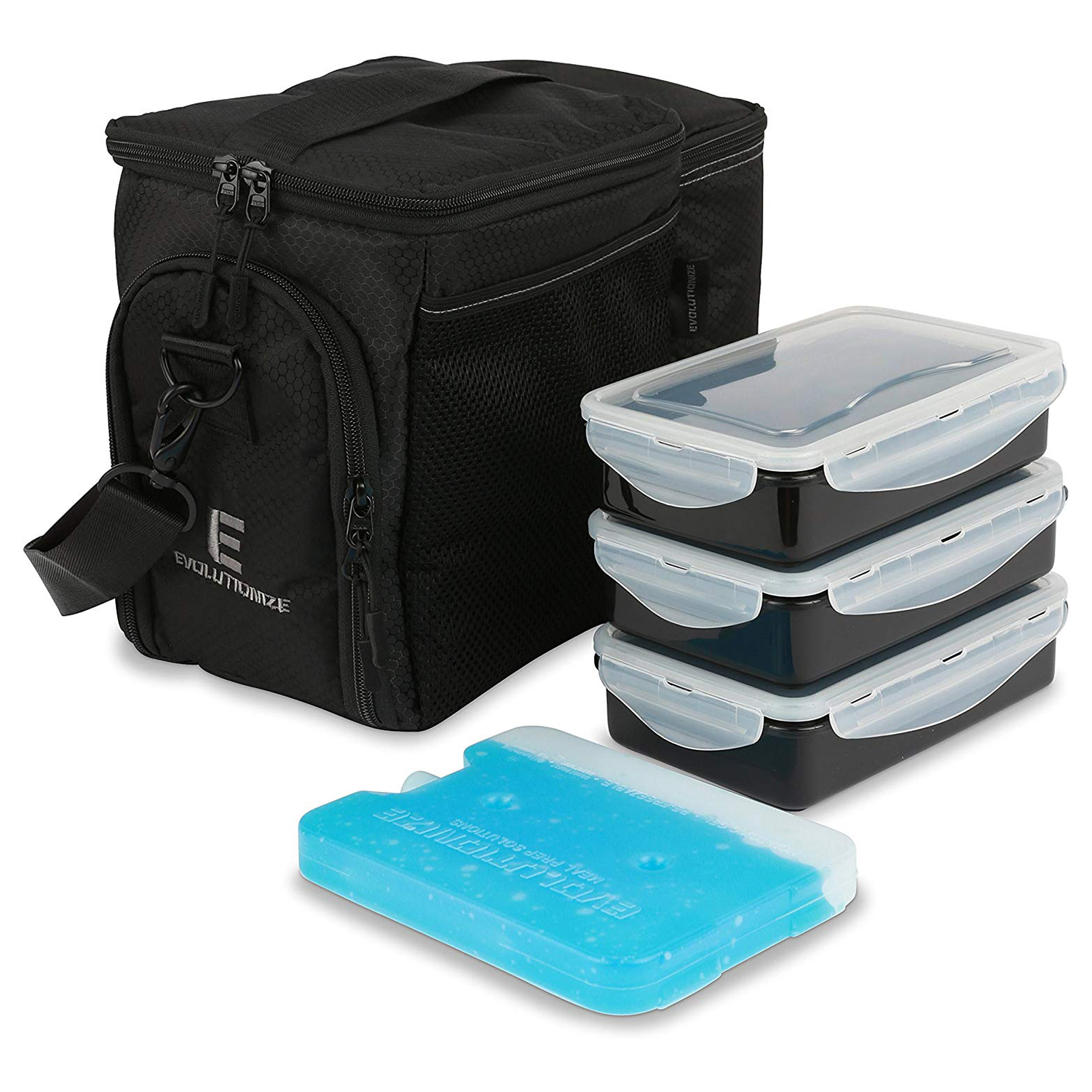 Evolutionize Meal Prep Insulated Lunch Bag Cooler Bag Patented Lunch Box