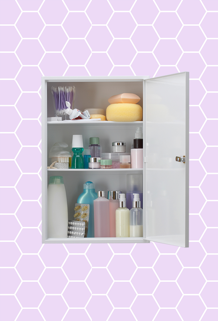 illustration of a beauty cabinet