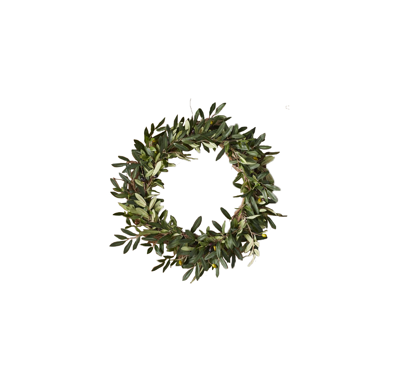 Thanksgiving wreaths Charlton Home Faux Olive Branch Wreath