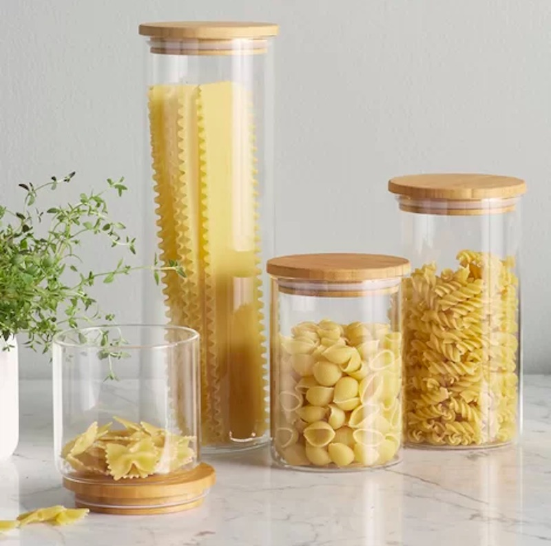 Minimalist Wood-and-Glass Containers