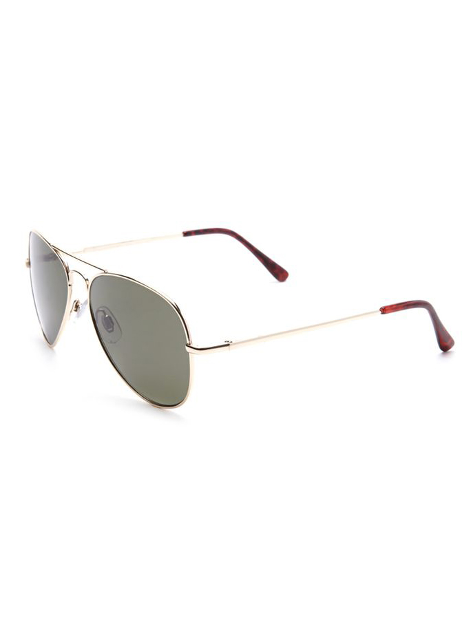 Metal-Frame Aviator Sunglasses