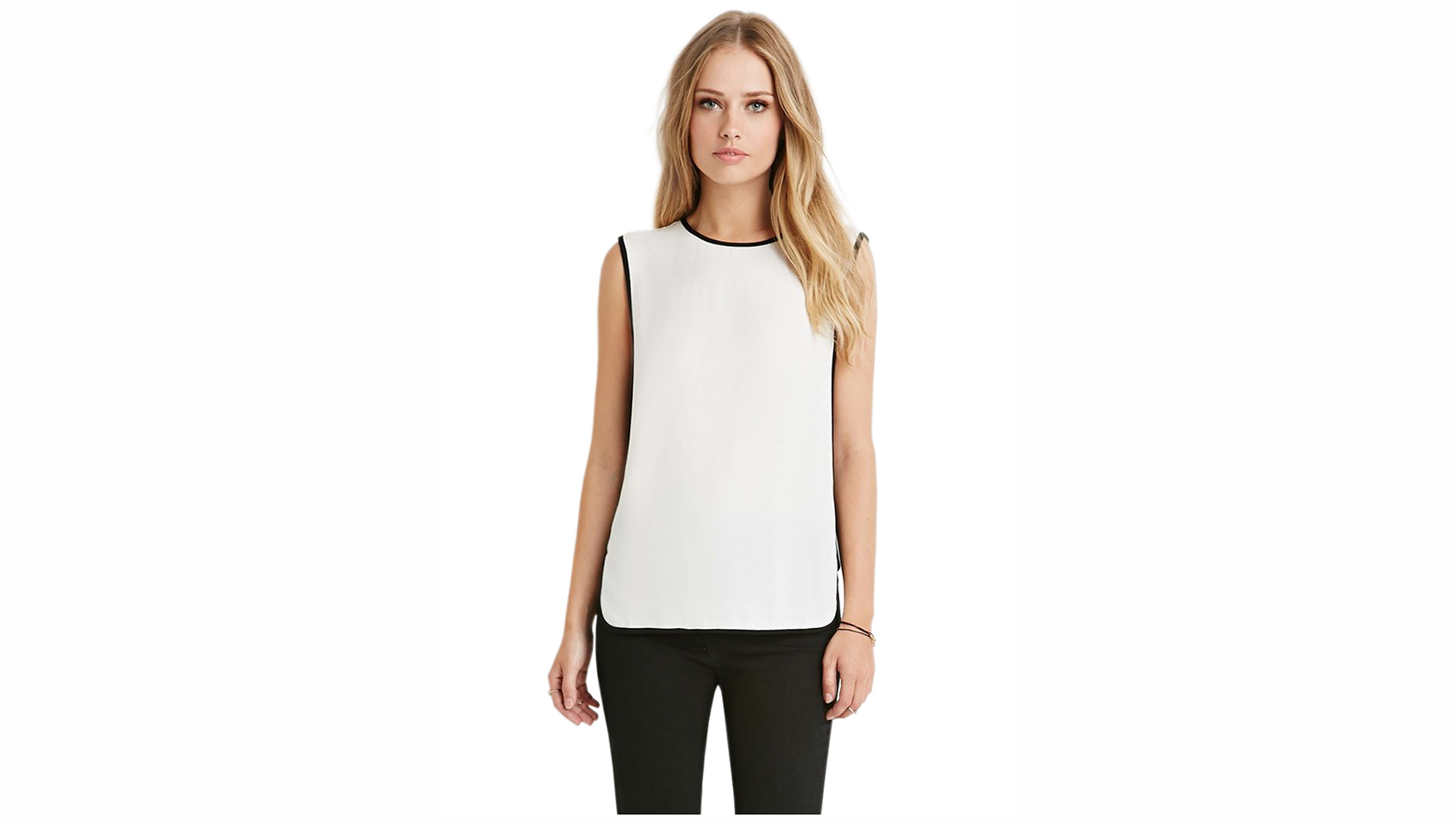 Colorblocked Side Panel Top