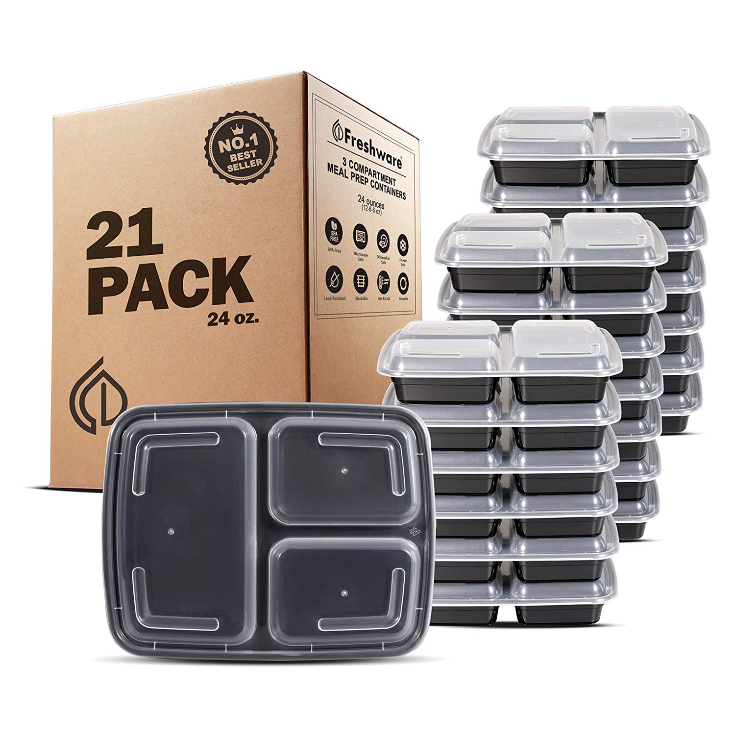 Freshware Meal Prep Containers 21 Pack