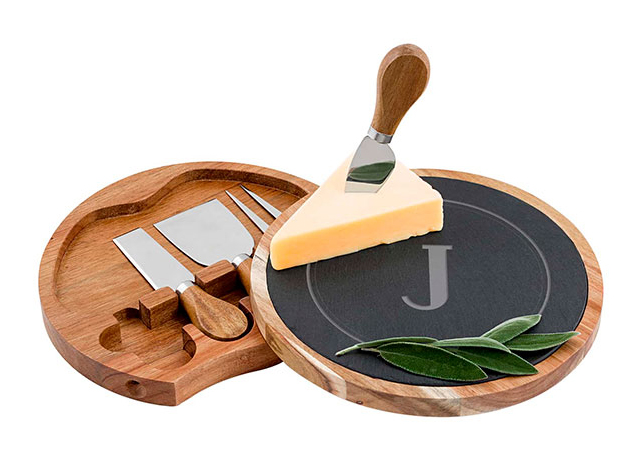 Galentines Day Ideas: Monogrammed Cheese Board