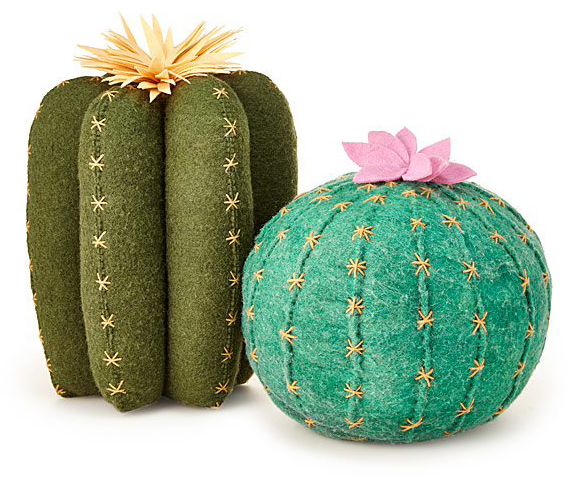 Galentine's Day gifts - Cactus Bloom Throw Pillows
