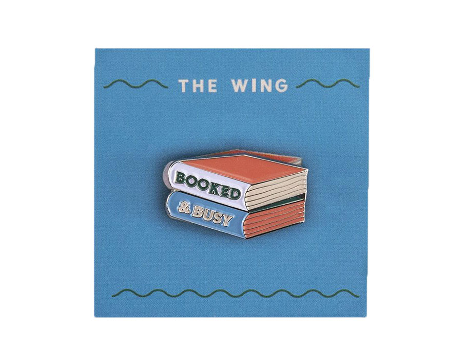 Galentine's Day gifts - The Wing Booked & Busy Pin