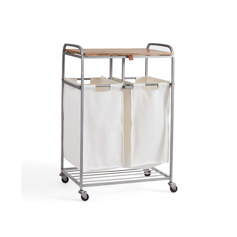 Pottery Barn's Rolling Laundry Cart