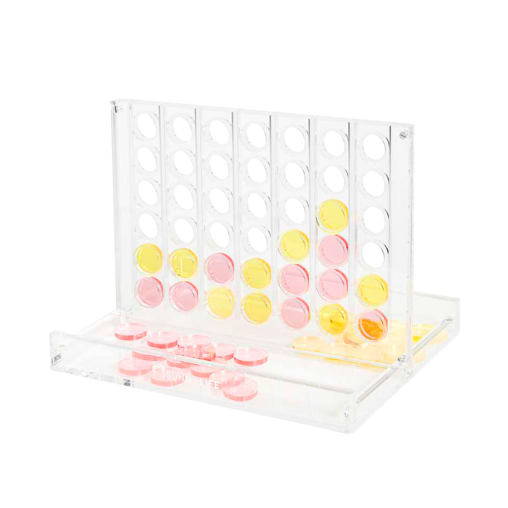 Game Night Supplies: Sunnylife Lucite 4-in-a-Row Game