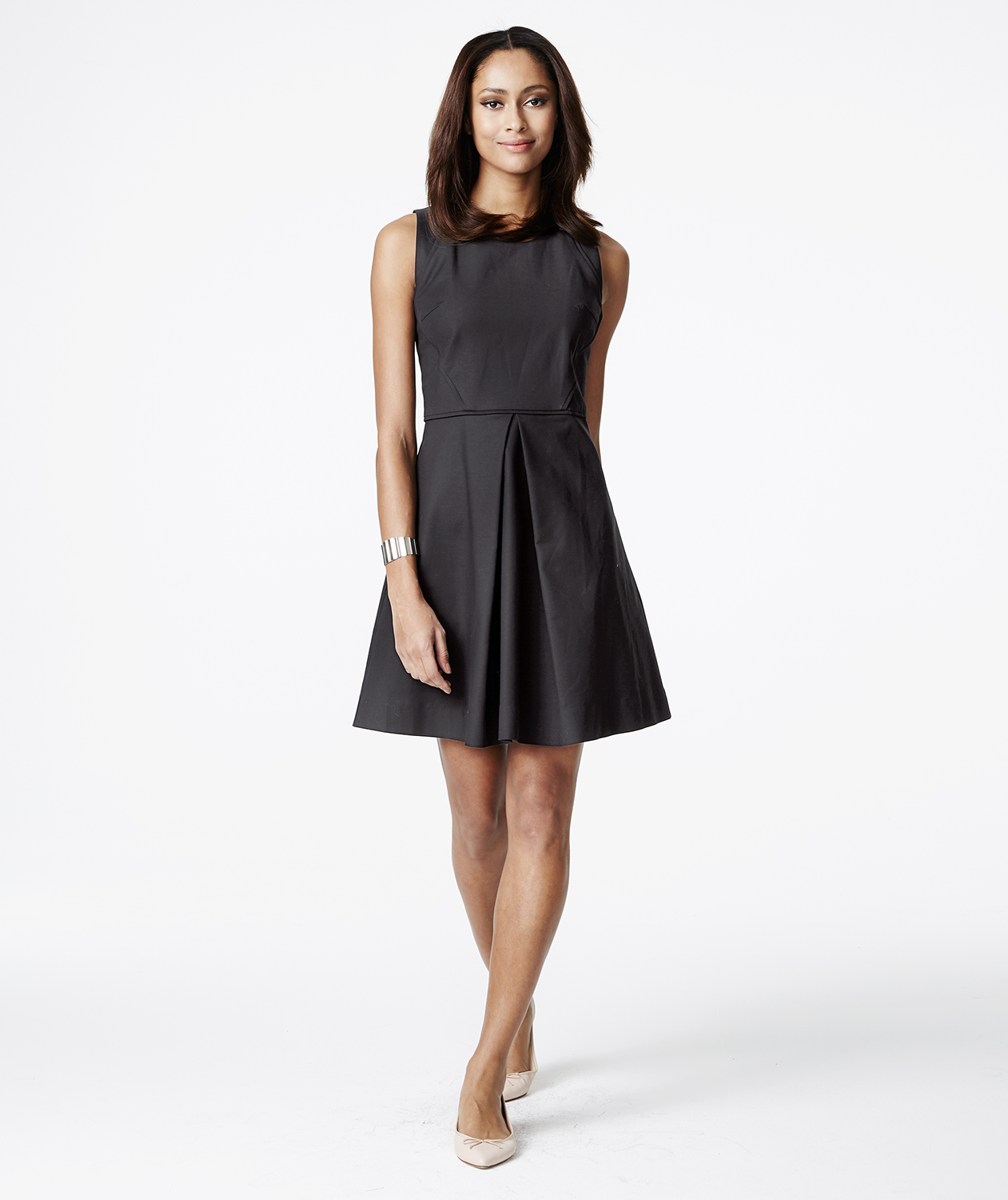 Gap Linen-Cotton Fit & Flare Dress