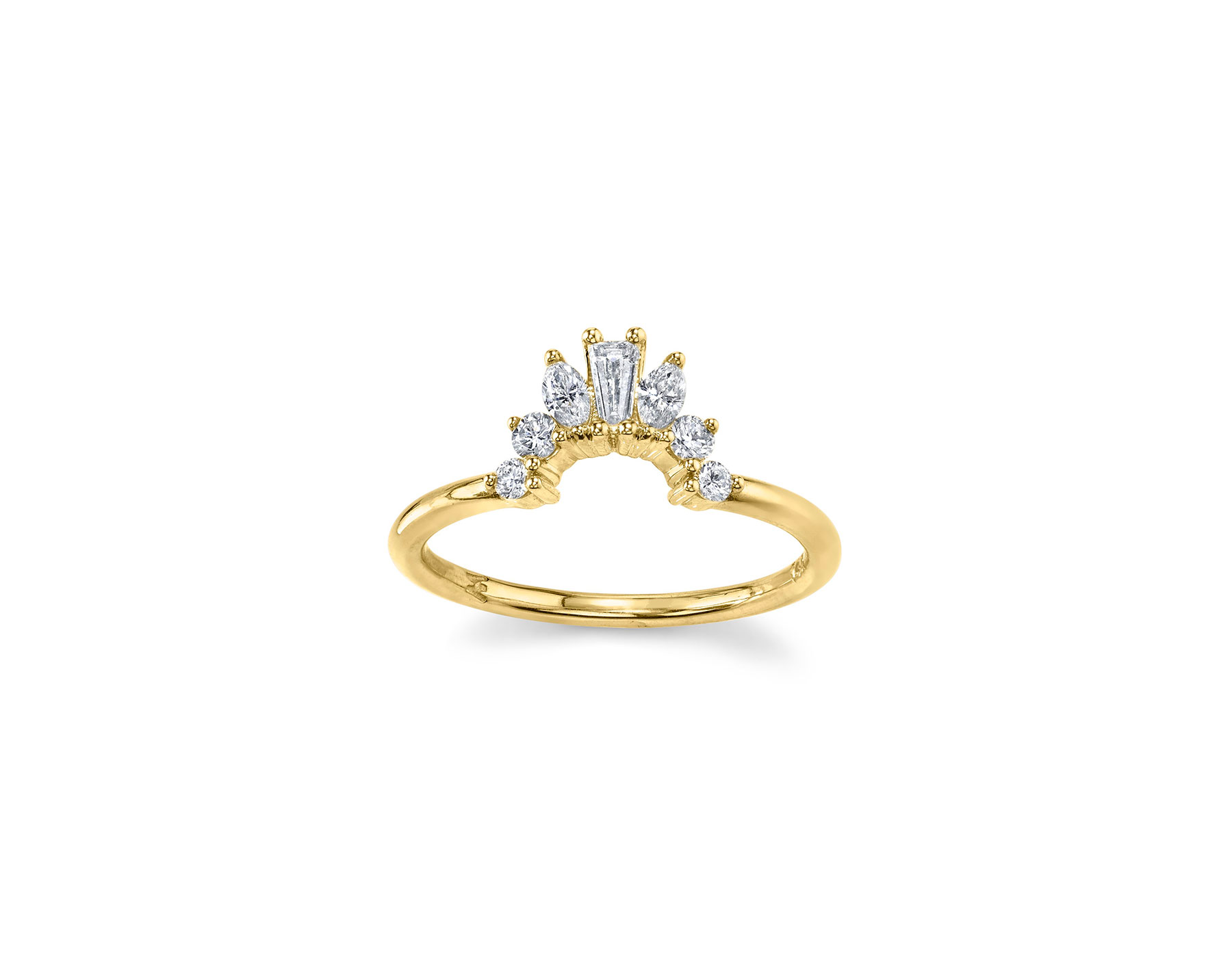 gold art deco engagement ring