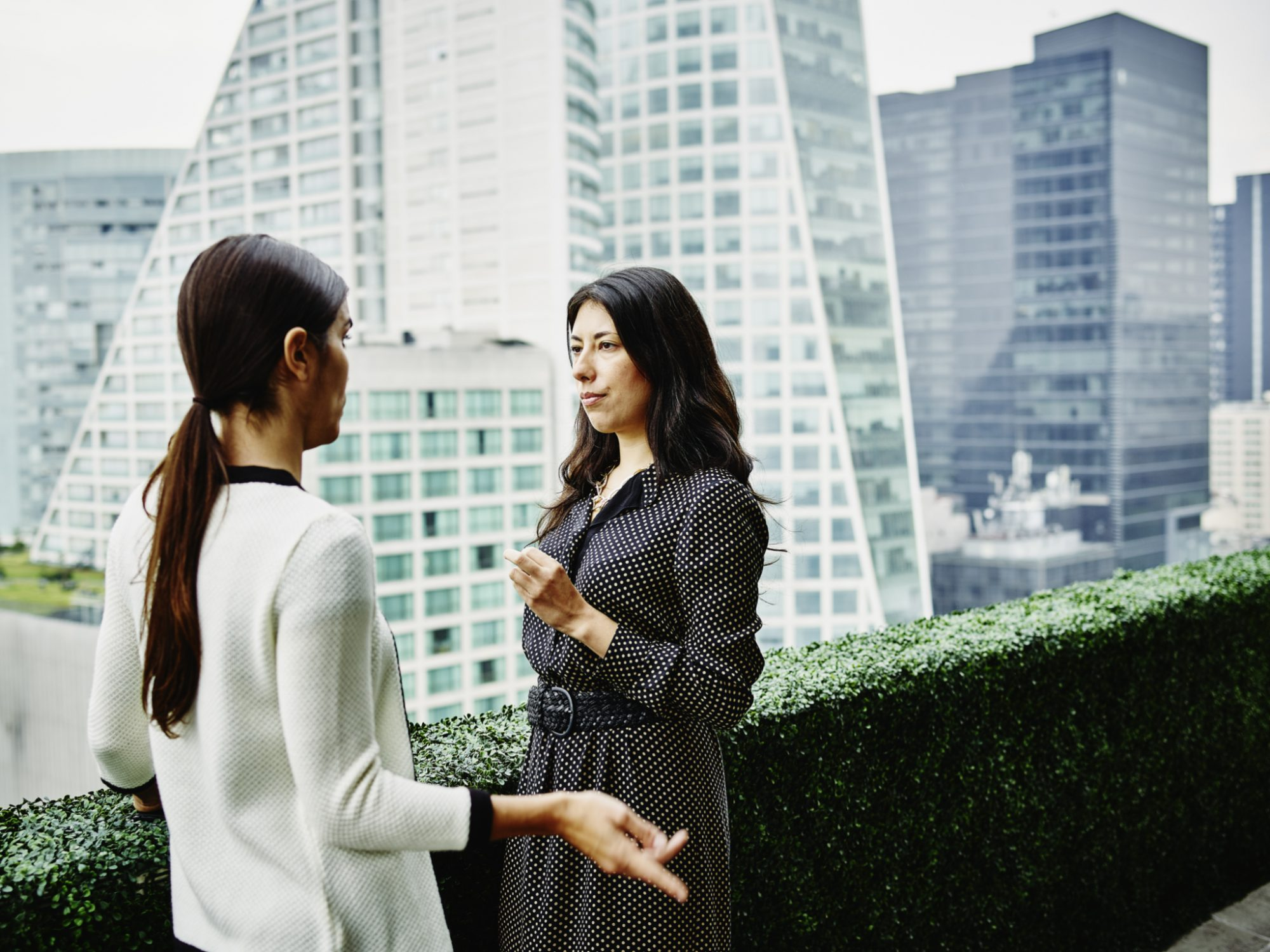 Female business executives in discussion