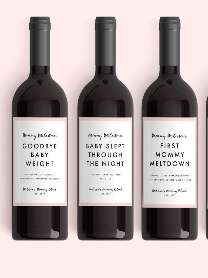 gifts for new moms: new mom wine labels