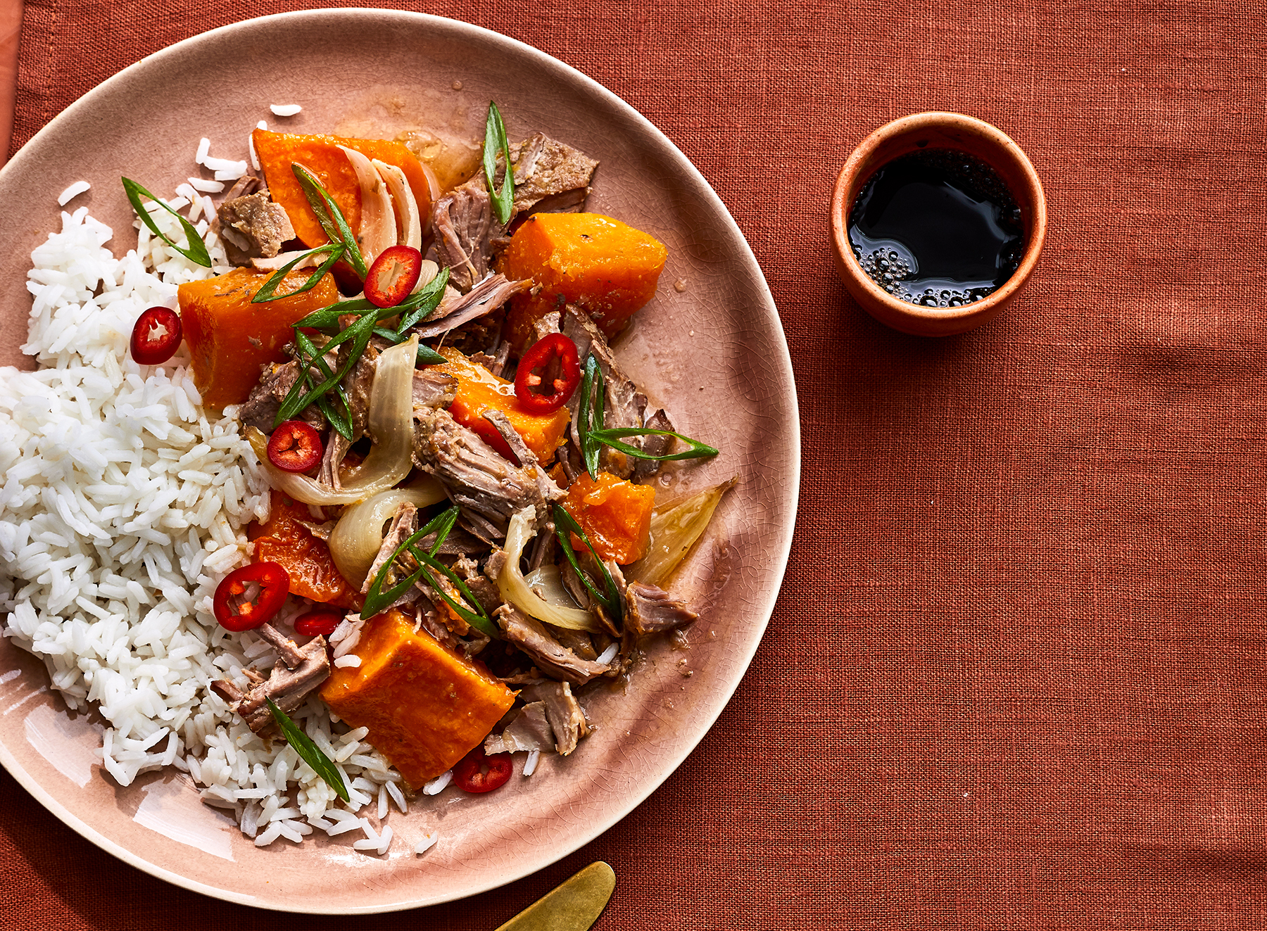 Ginger-Coconut Pork With Butternut Squash