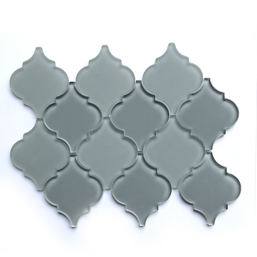 Bestview Grey 9 x 12-in Glass Lantern Mosaic Wall Tile; $12.98; lowes.com.