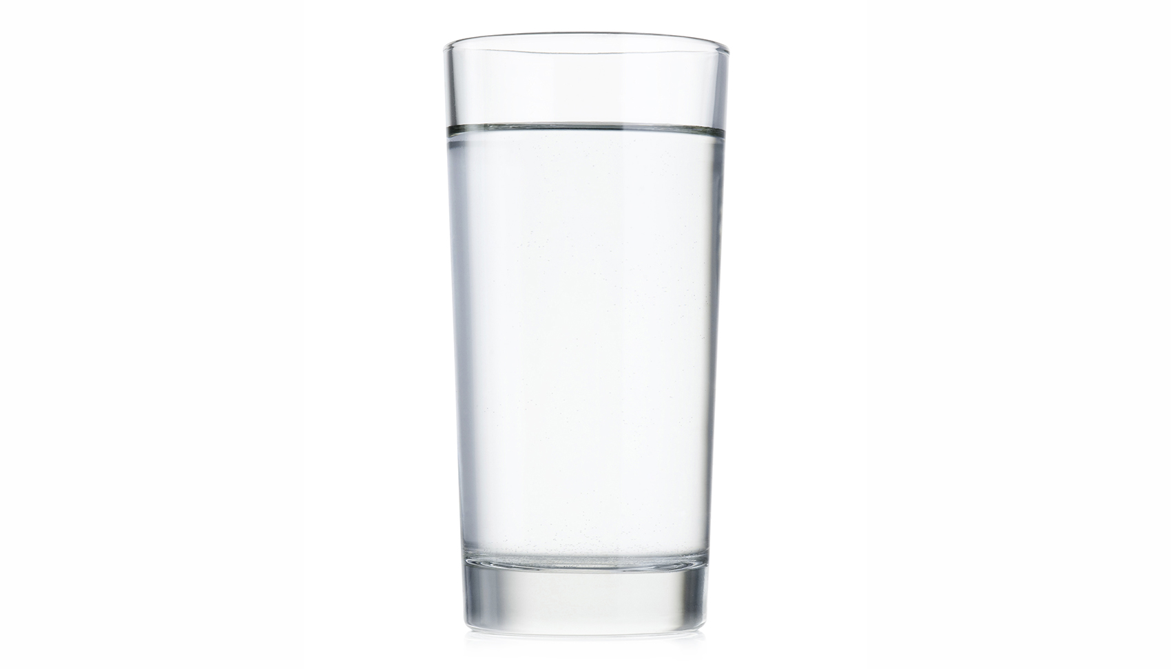 Water in clear glass