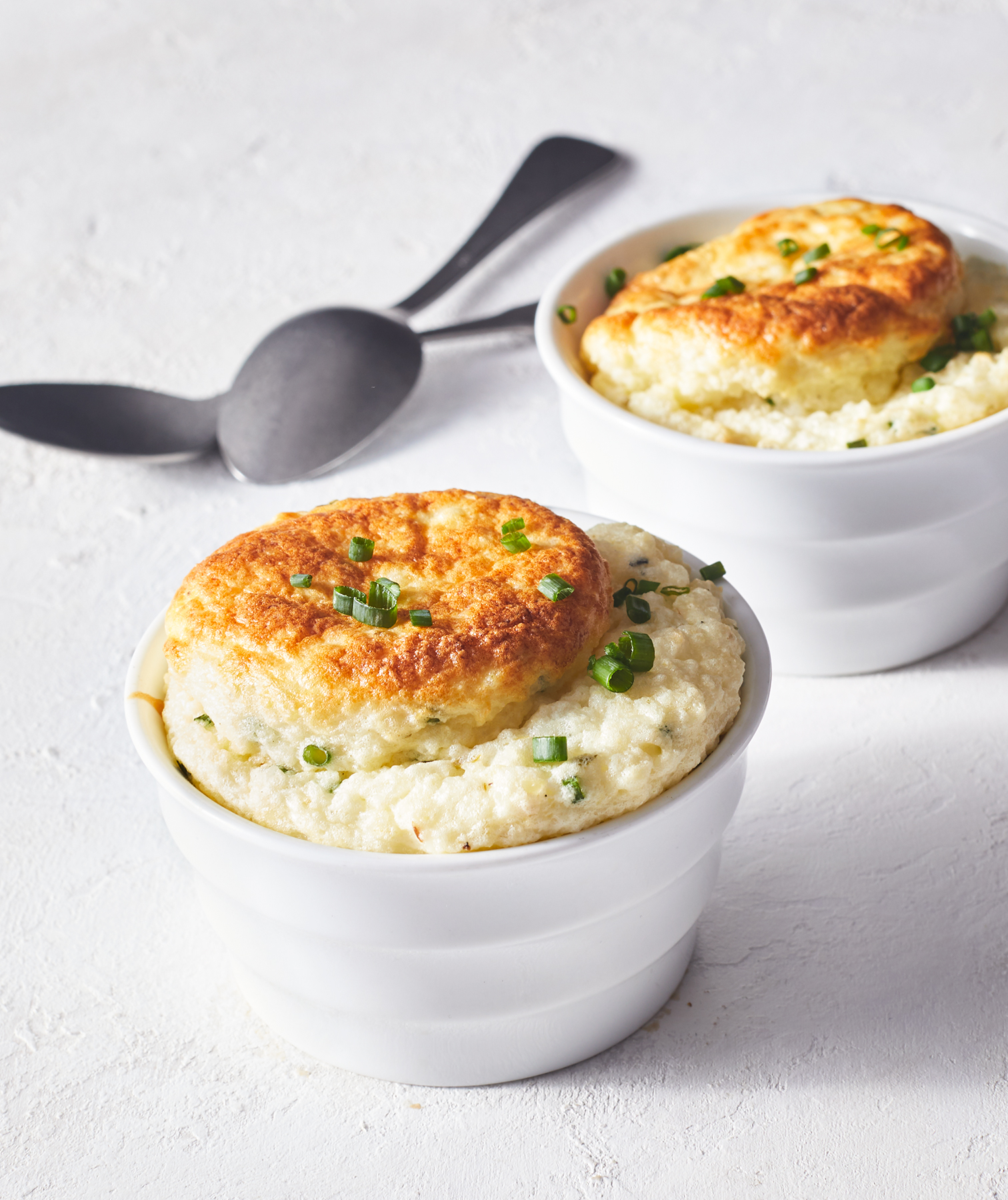 Goat Cheese Grits Souffles