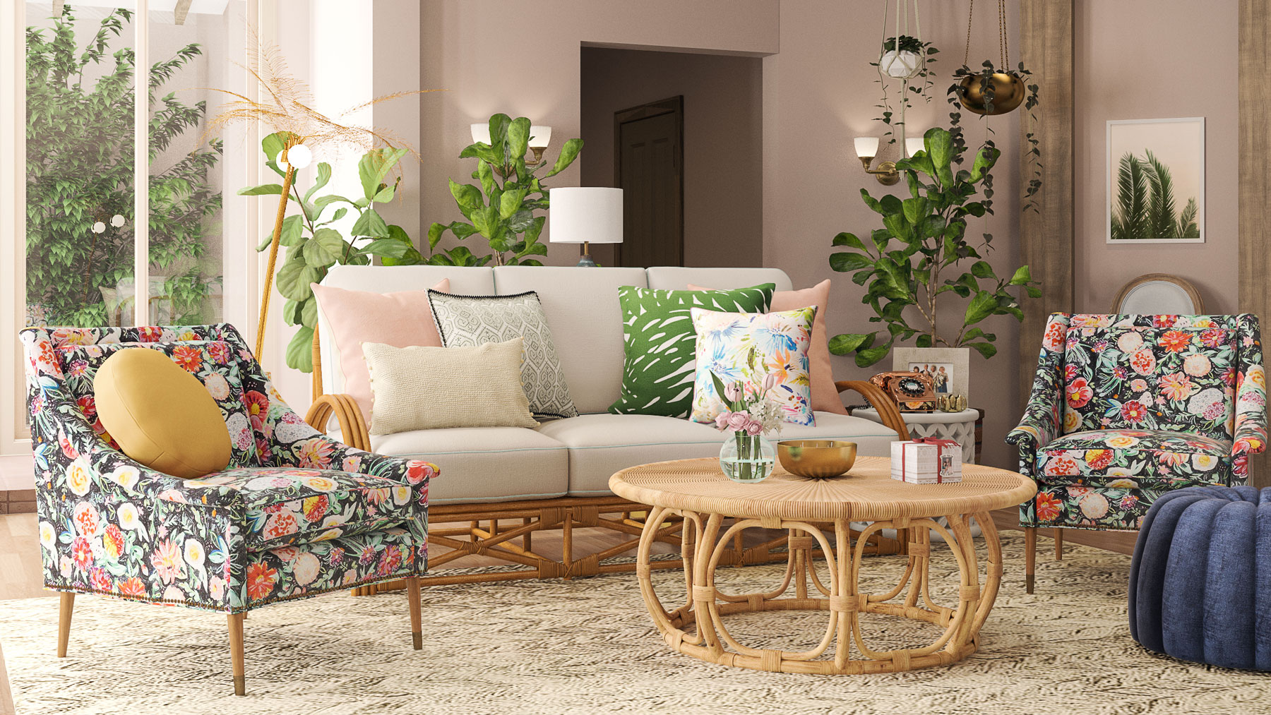 The Golden Girls House Updated - The Living Room