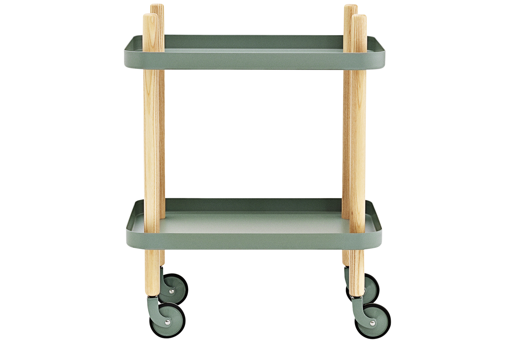 Block Table in Dusty Green