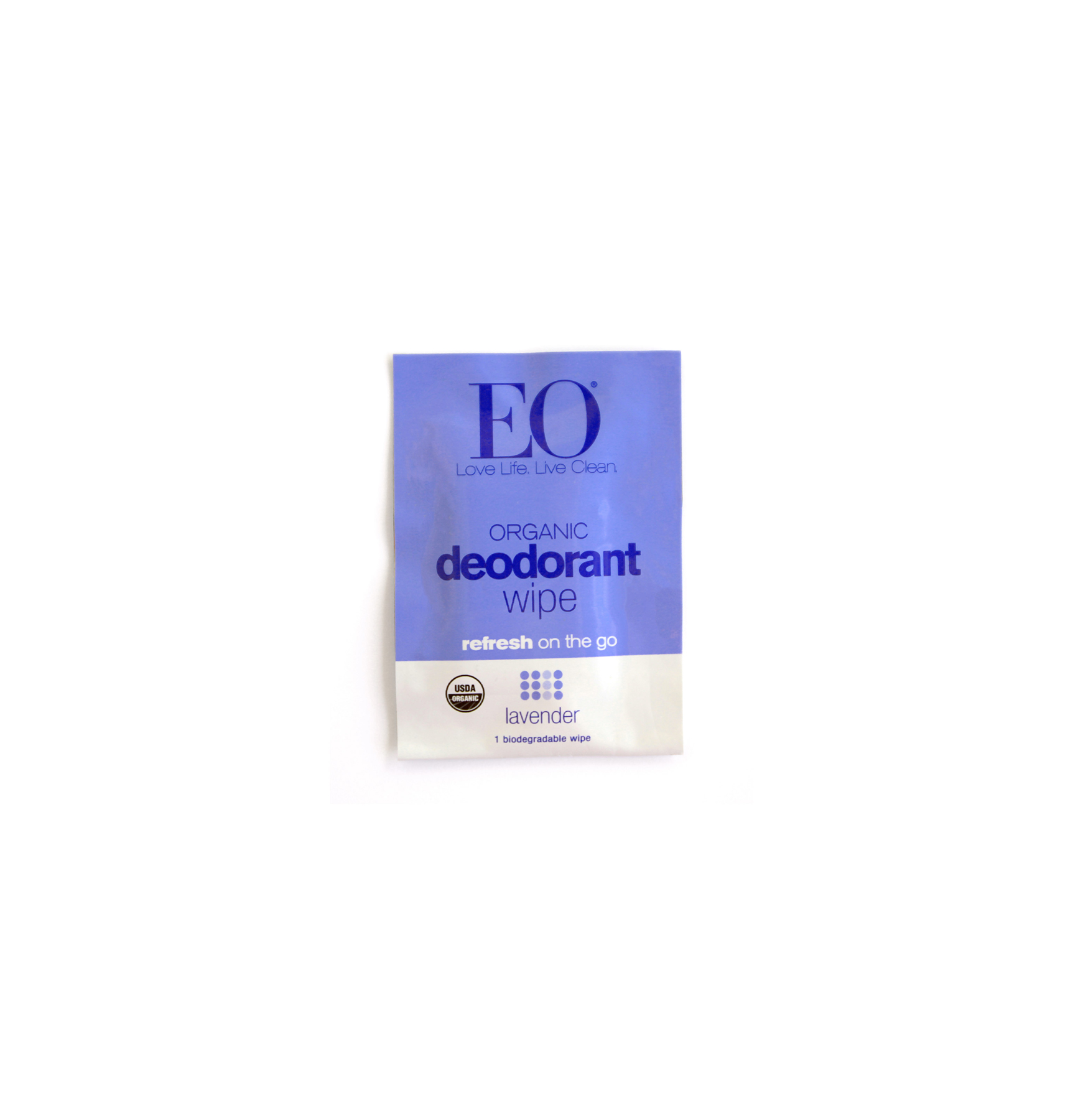 Gym bag essentials and luxuries - EO Natural Deodorant Wipes in Lavender