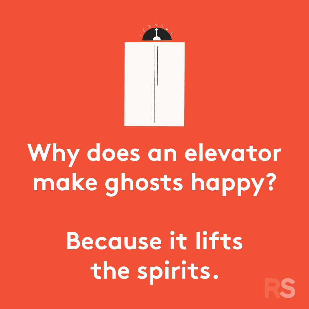 Halloween puns - why does an elevator make ghosts happy
