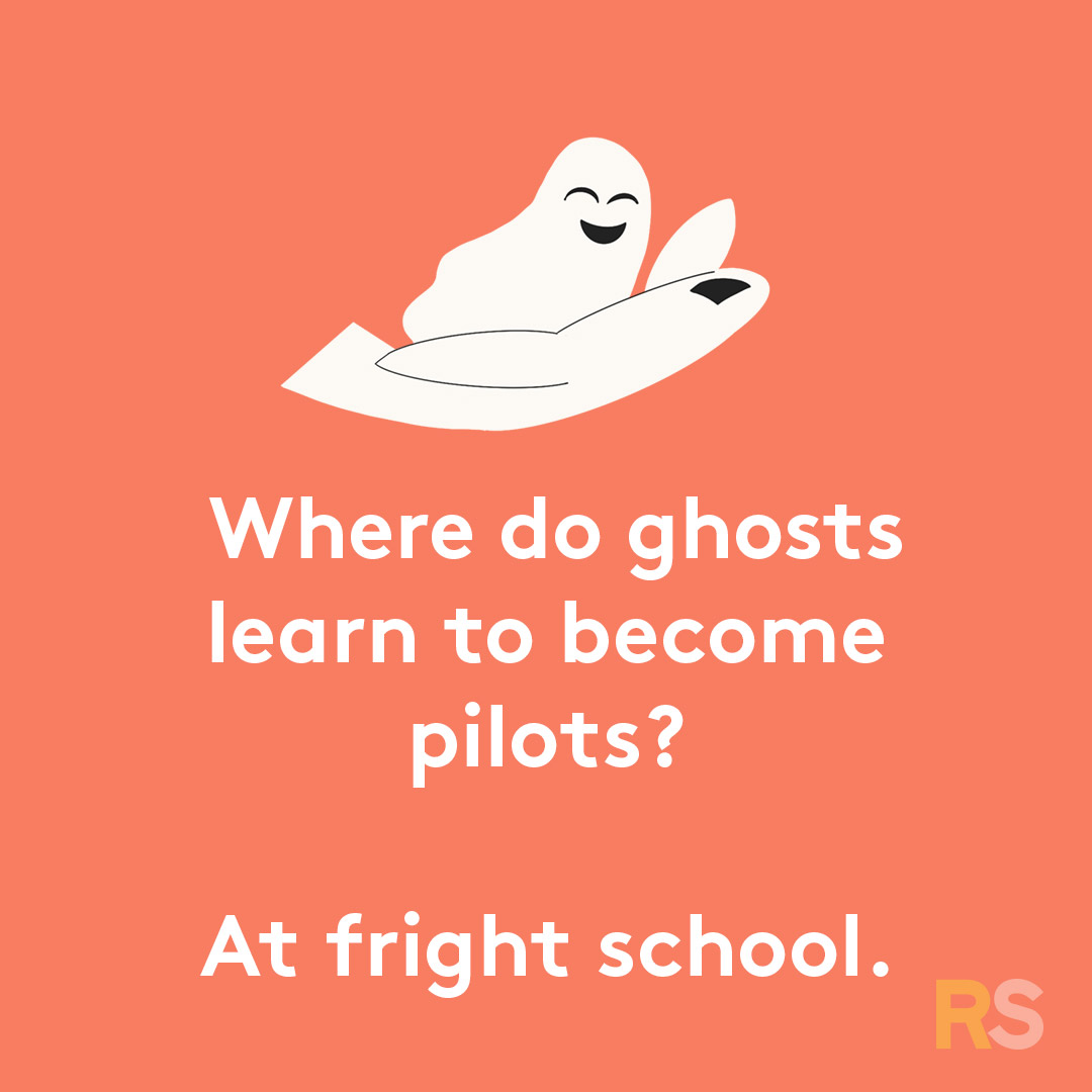 Halloween puns - where do ghosts learn to become pilots
