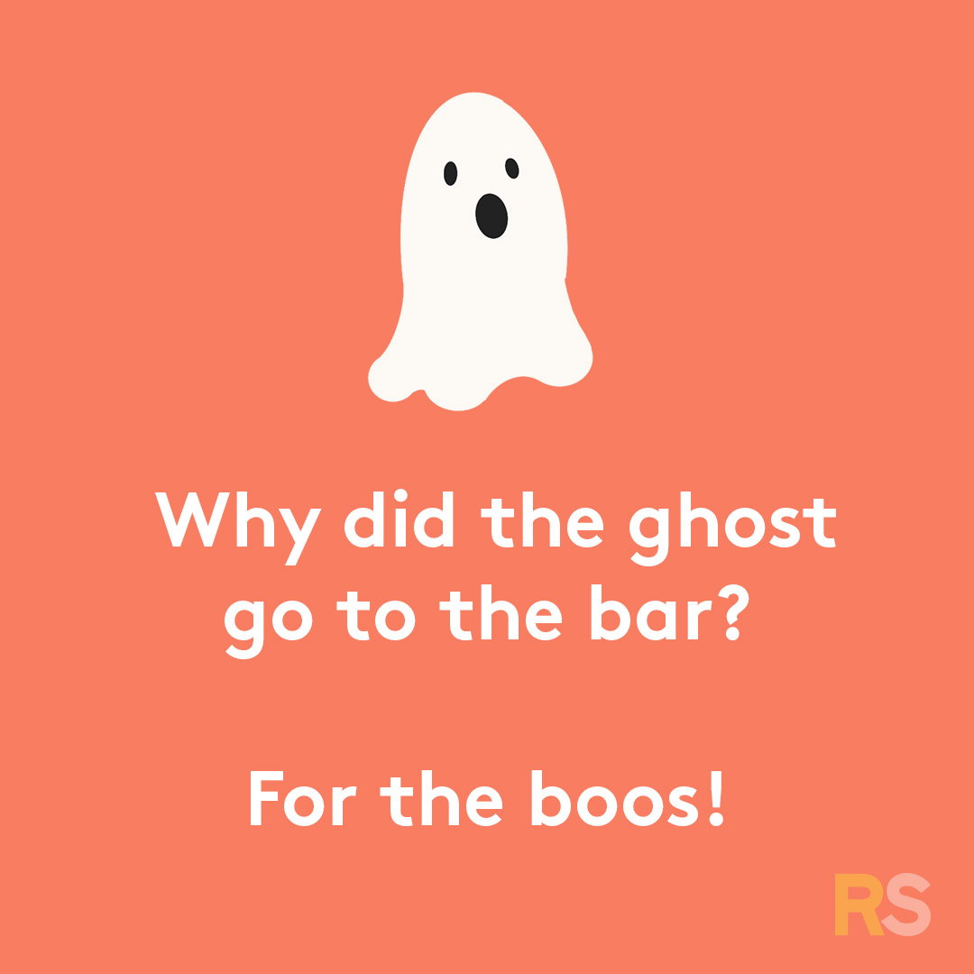 Halloween puns - why did the ghost go to the bar