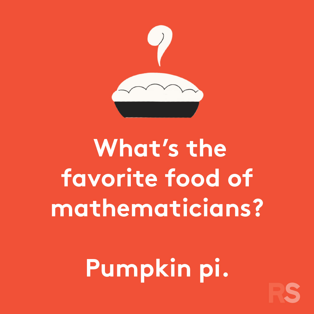 Halloween puns - what's the favorite food of mathematicians