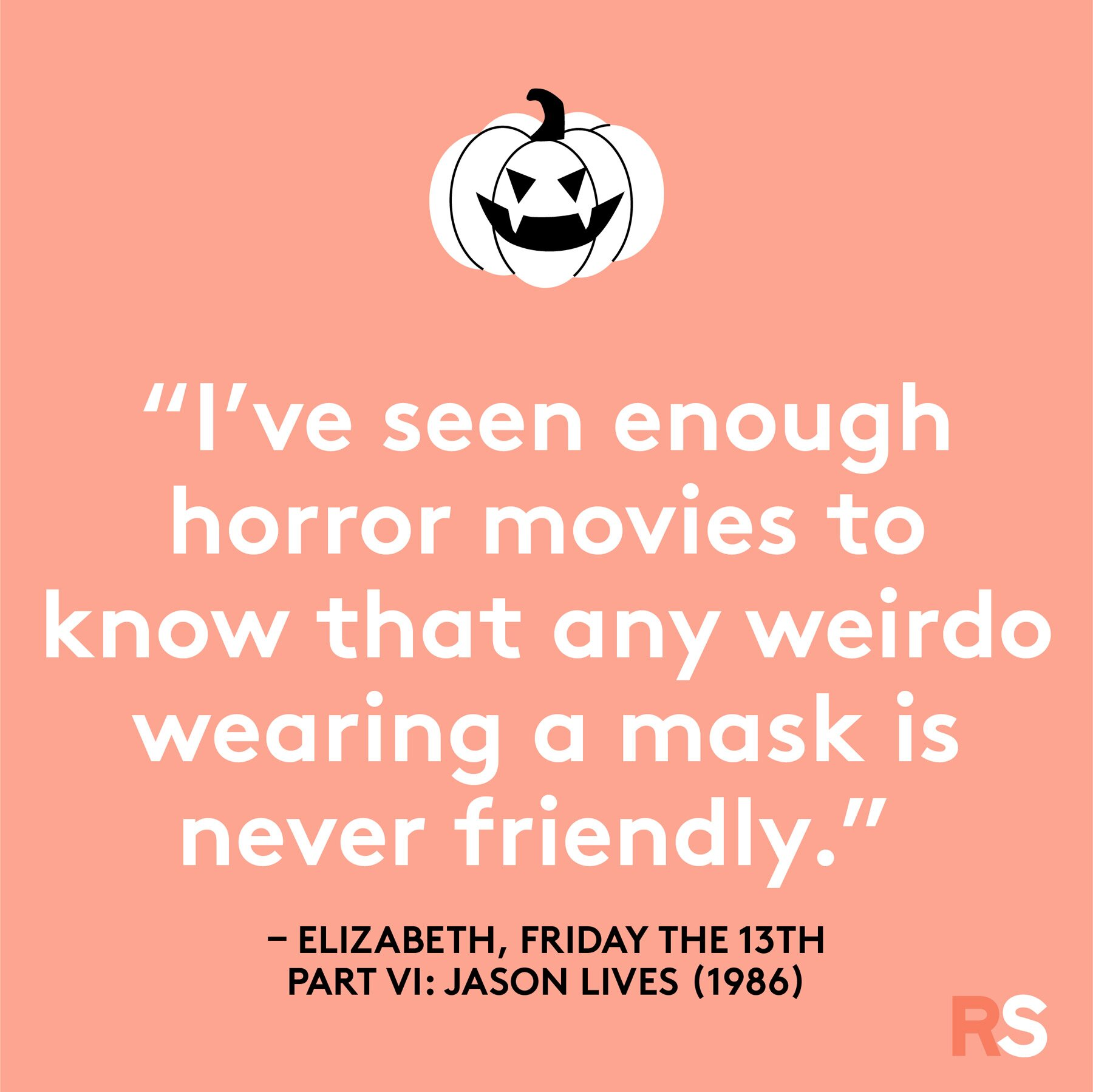 Halloween quotes, sayings, phrases - Friday the 13th quote