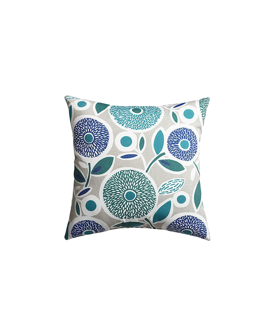 Happy Flowers Square Pillow