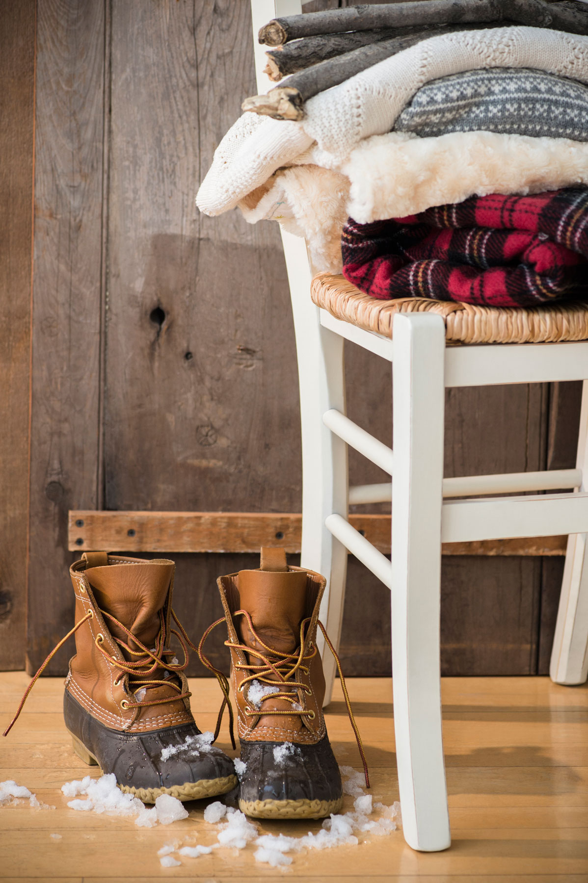 Hardwood floor care tips for winter - winter boots