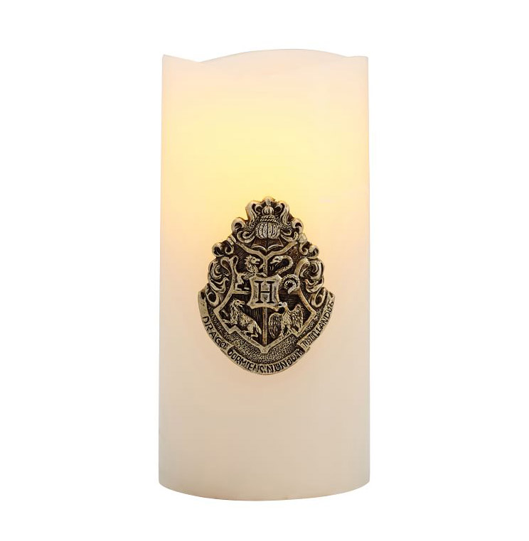 Harry Potter gifts - Harry Potter Hogwarts Crest Flameless Candle