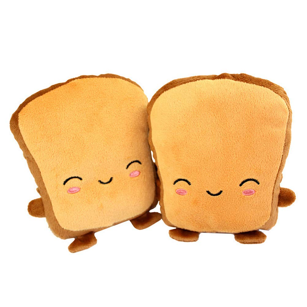 Toast shaped hand warming gloves