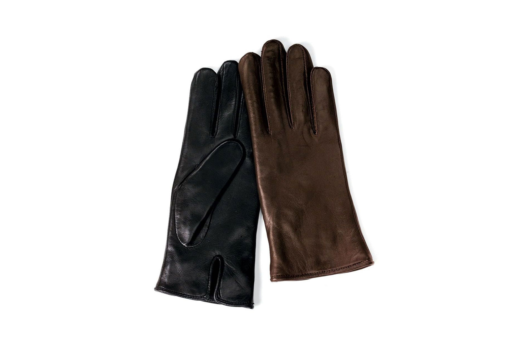 Heat-Storing Leather Gloves