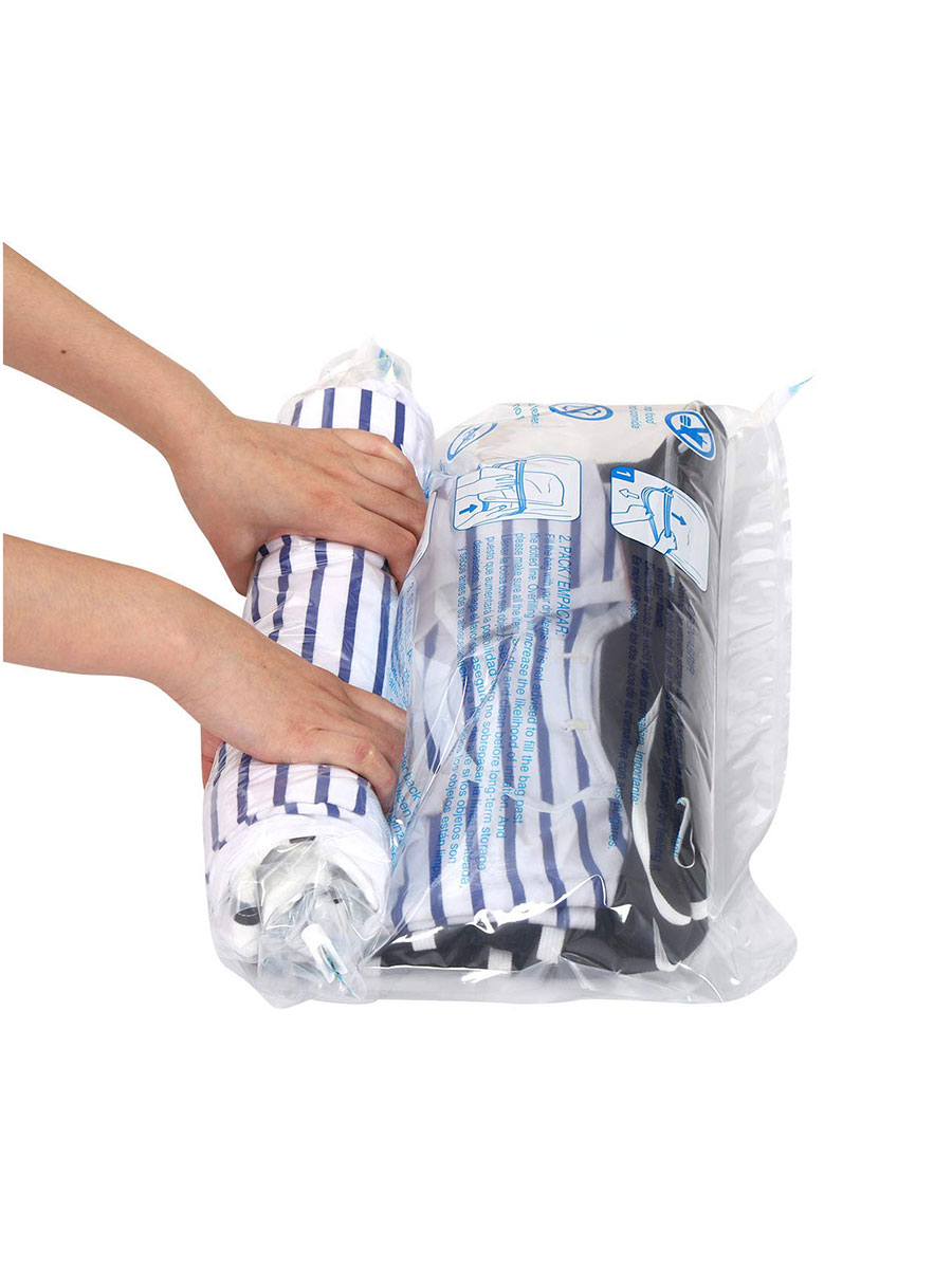 Hibag 12 Travel Roll-Up Space-Saving Compression Bags