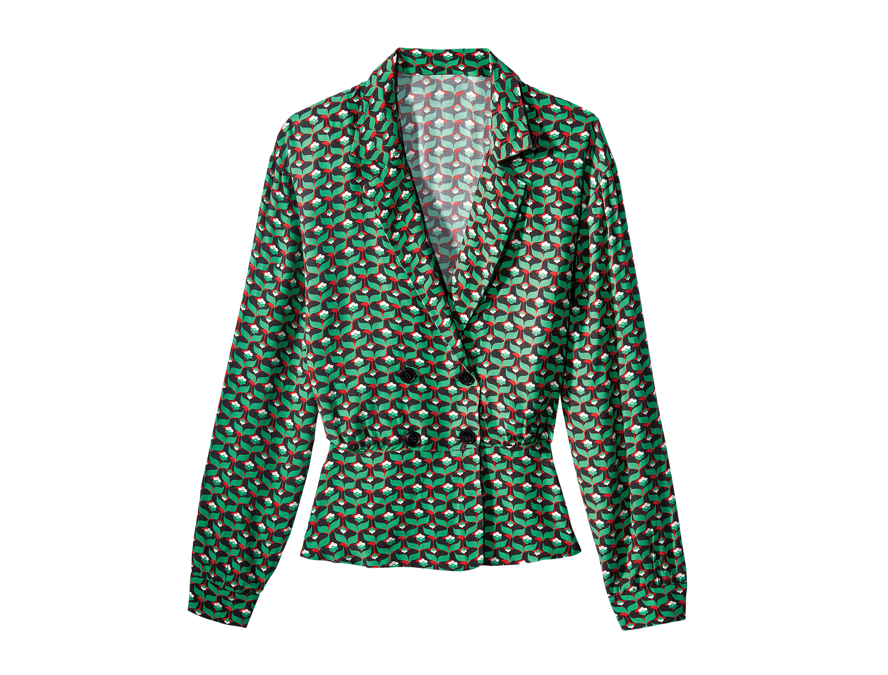 Double-breasted H&M patterned jacket