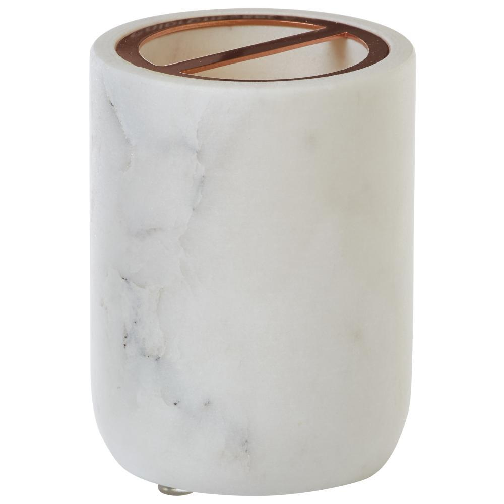Marble toothbrush holder