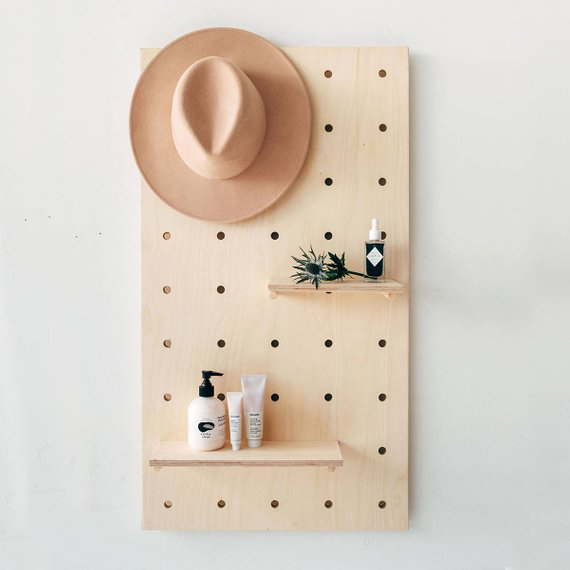 Home Office Furniture Must-Haves: Display Birch Plywood Pegboard