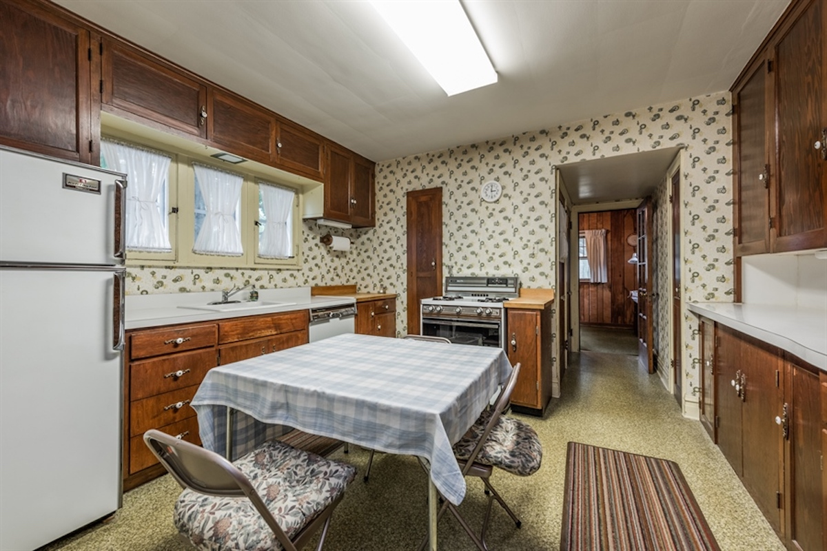 before image of an outdate kitchen