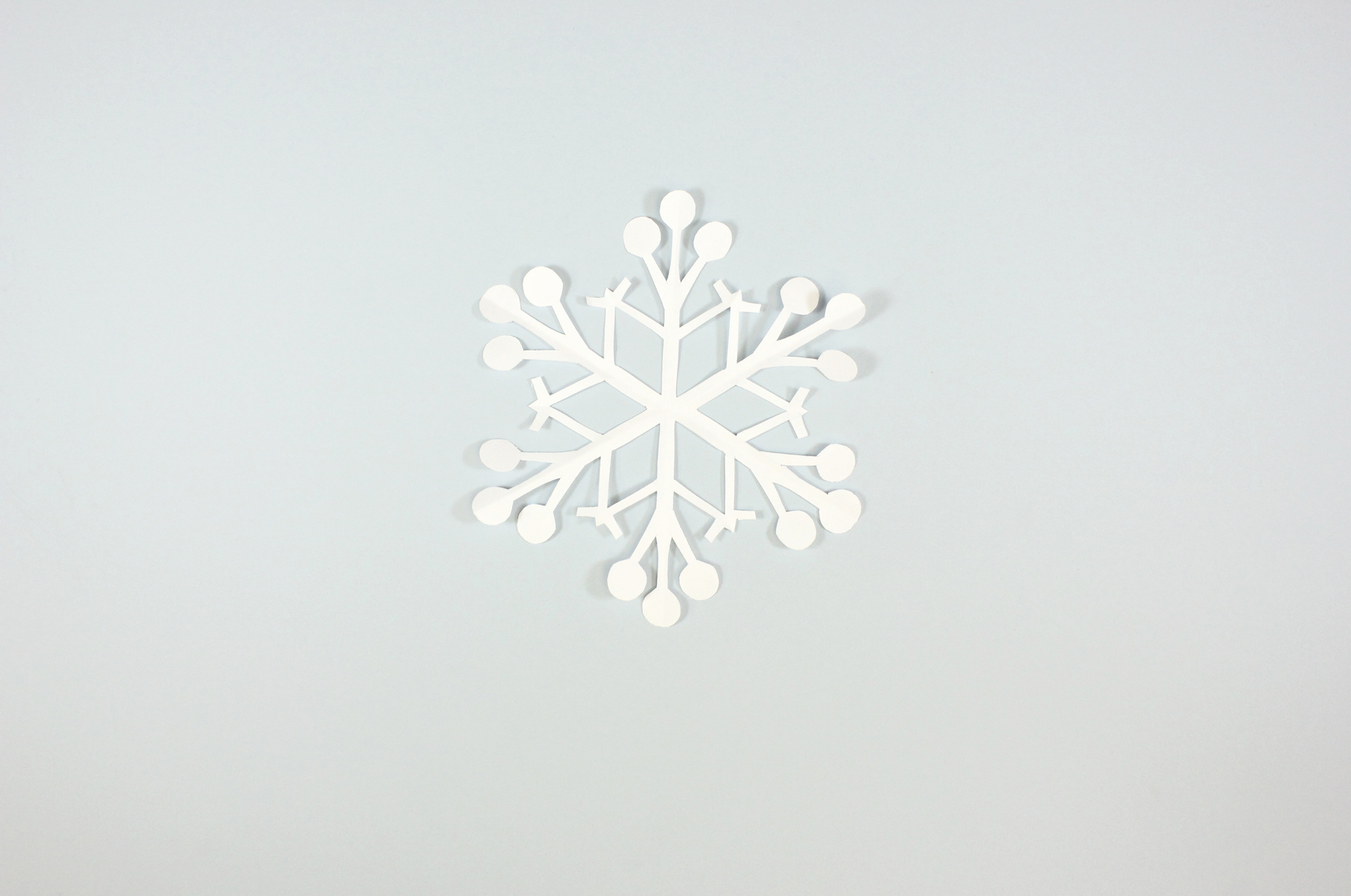 finished paper snowflake
