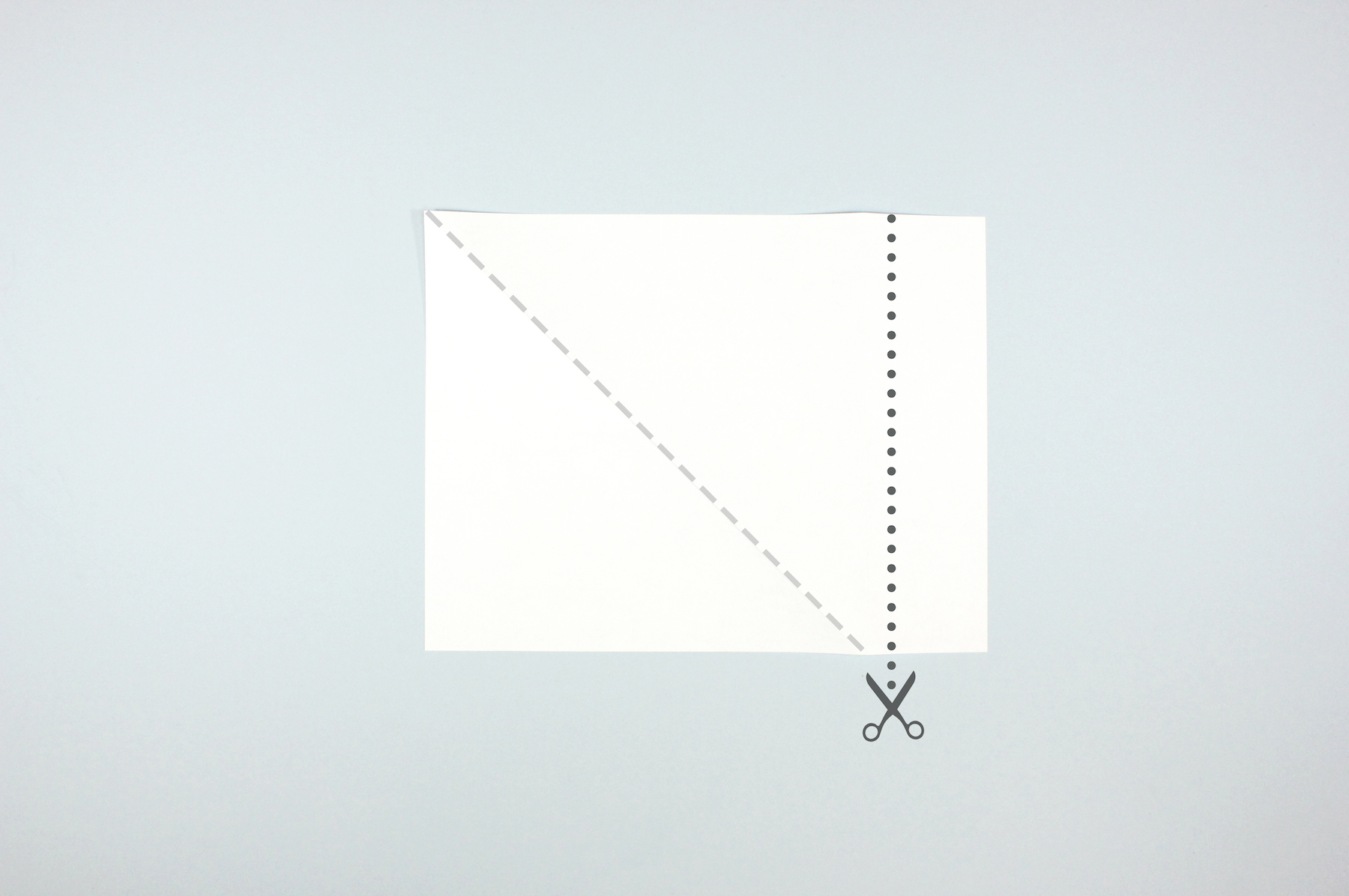 Fold Paper to make a square